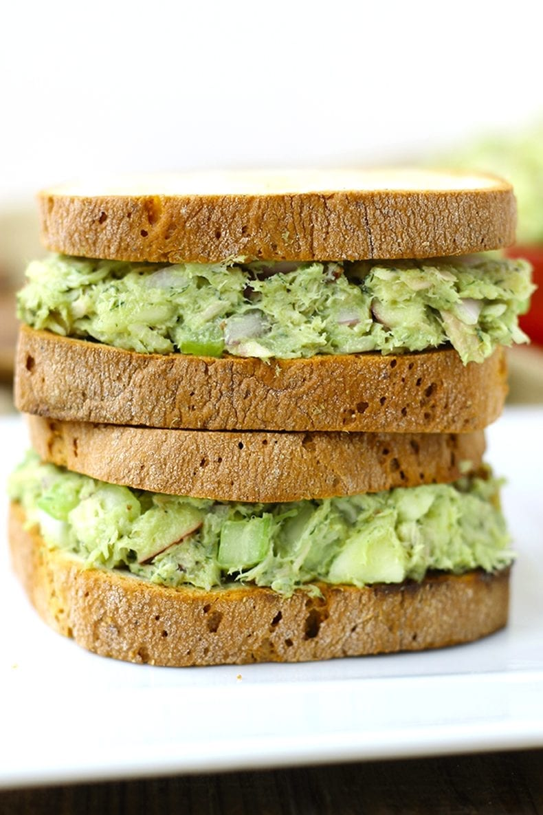 A healthy lunch recipe - this avocado tuna salad will quickly become a kitchen staple.