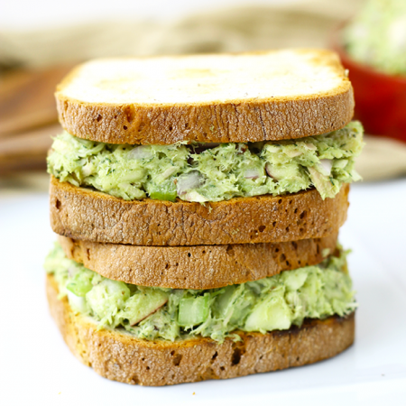 A super easy lunch recipe ready in minutes, this Avocado Tuna Salad will quickly become a lunch staple. Swap the mayo for avocado in this healthy lunch recipe!