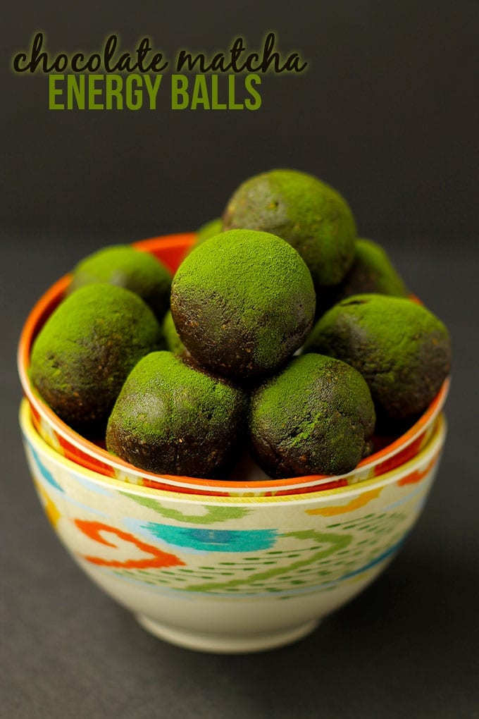 Chocolate Matcha Energy Balls + An Energy Ball Round-Up! // thehealthymaven.com