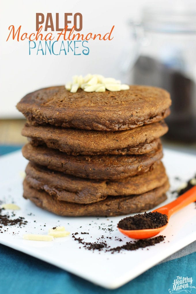 Paleo Mocha Almond Pancakes + Healthy Mother's Day Brunch Ideas // thehealthymaven.com