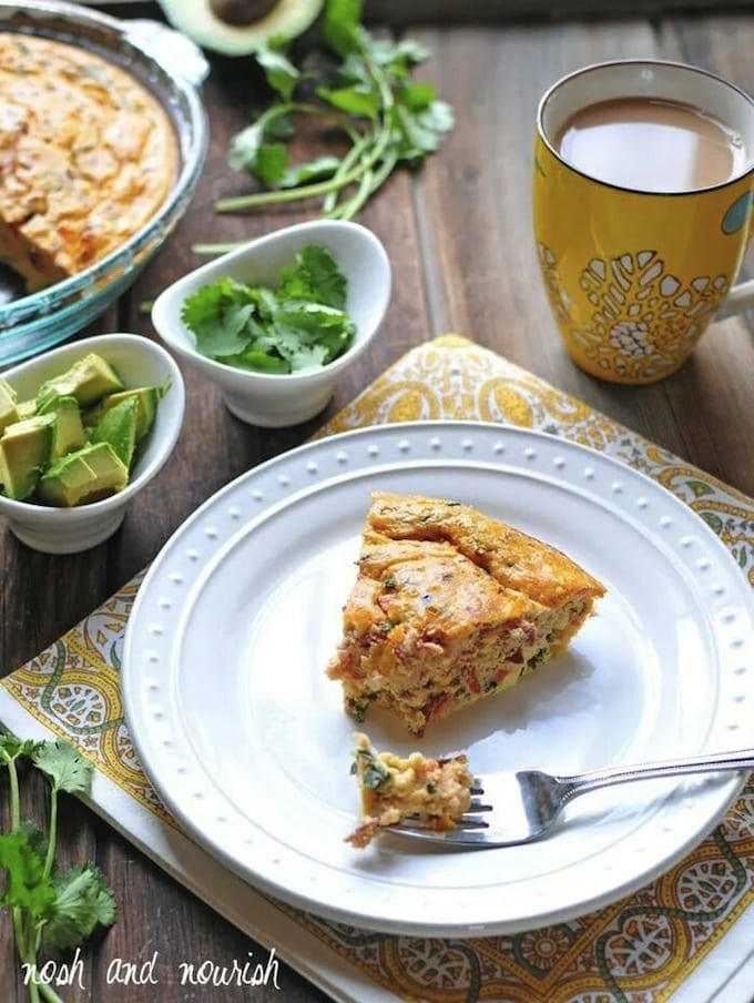 BLT Crustless Quiche + Healthy Mother's Day Brunch Ideas // thehealthymaven.com