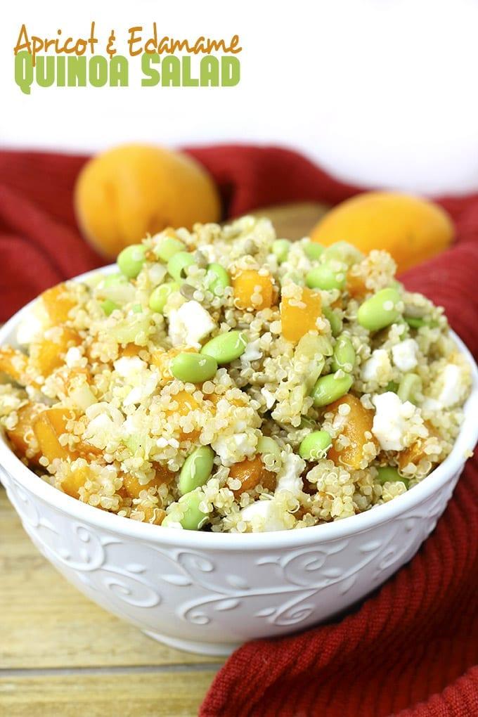 Apricot and Edamame Quinoa Salad // thehealthymaven.com
