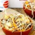 Cold Sesame Ginger Soba Noodle Salad with Shrimp