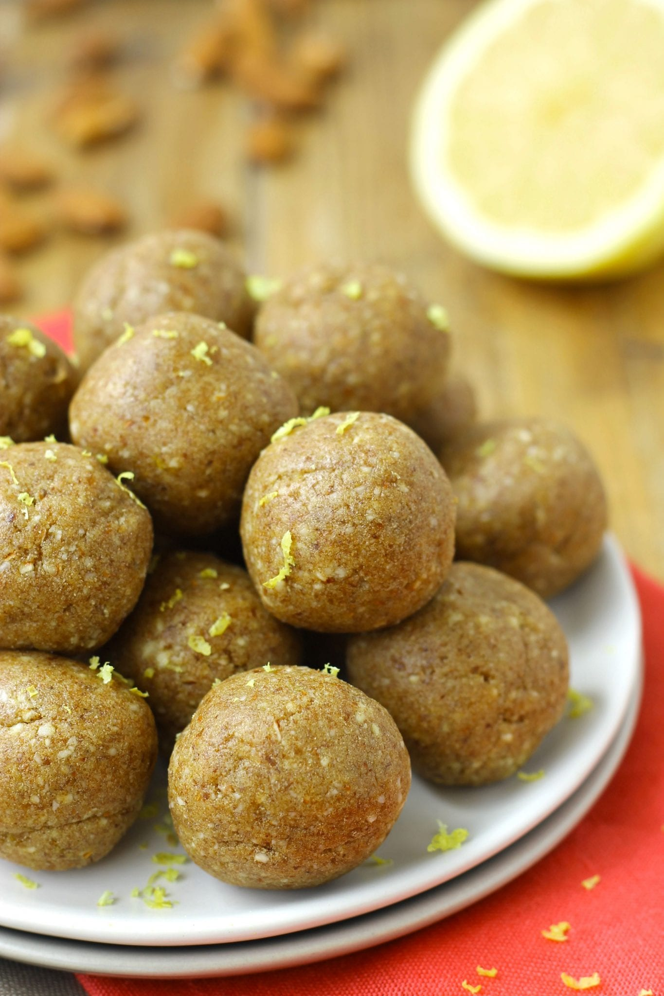 Lemon Vanilla Energy Balls