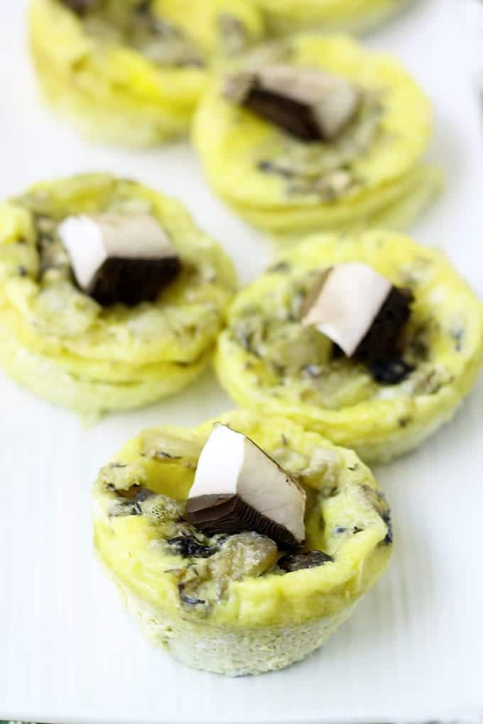 Mushroom and Goat Cheese Mini Frittatas 4