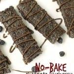 No-Bake Chocolate Blueberry Bars
