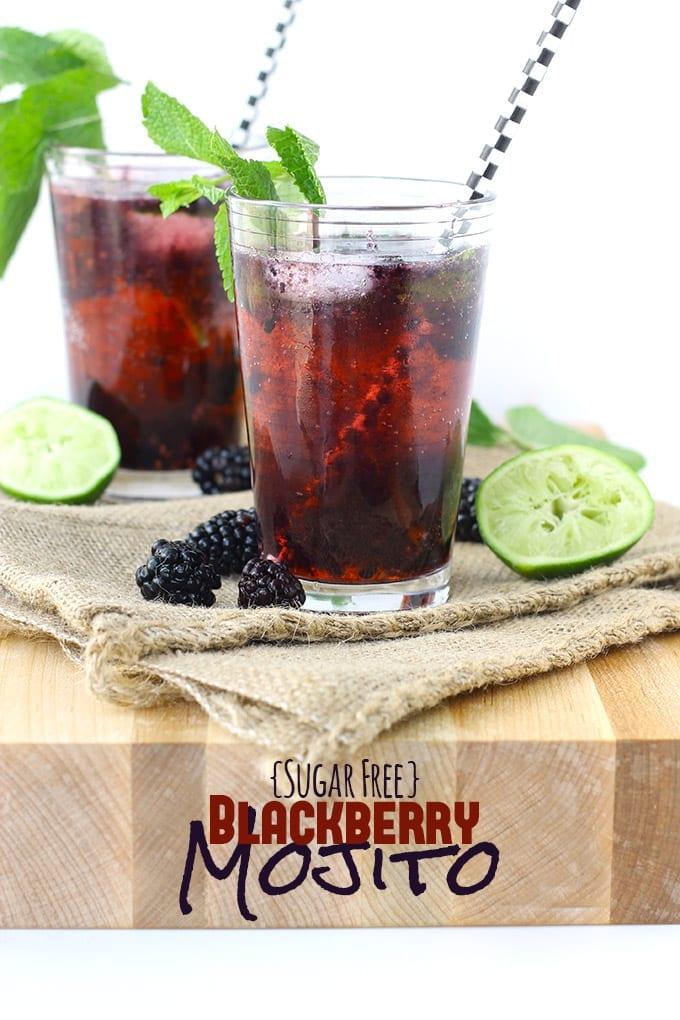Sugar-Free Blackberry Mojito // thehealthymaven.com
