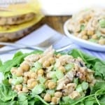 Honey Garlic Chicken Chickpea Salad // thehealthymaven.com #protinis