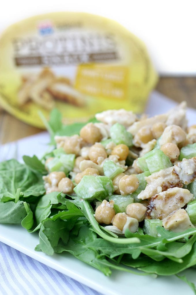 Honey Garlic Chicken and Chickpea Salad + A Protinis Giveaway!