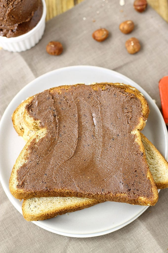 Mocha Hazelnut Butter // thehealthymaven.com