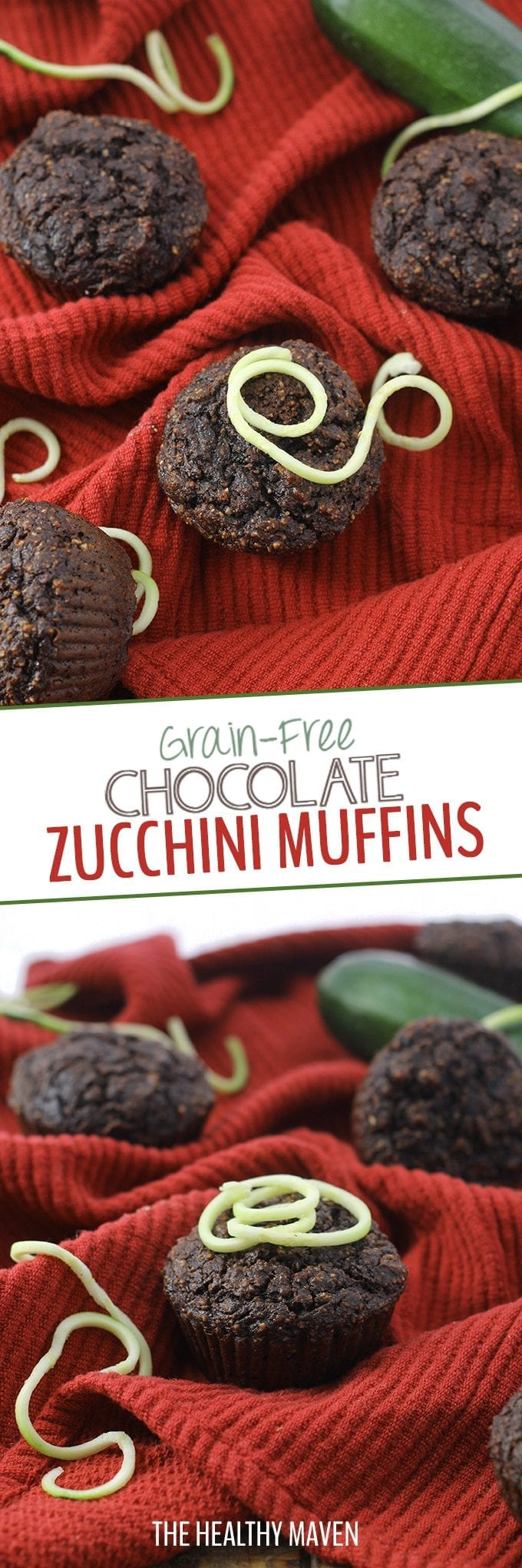 As a healthy paleo breakfast or snack, these Grain-Free Chocolate Zucchini Muffins will become a summer staple all season long! Enjoy fresh or freeze for later.