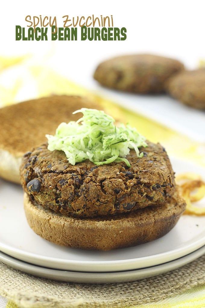 Spicy Zucchini Black Bean Burgers The Healthy Maven
