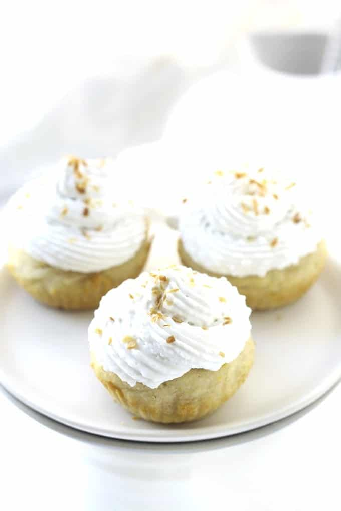 Vanilla Cupcakes with Coconut Cream Frosting // thehealthymaven.com #glutenfree #vegan
