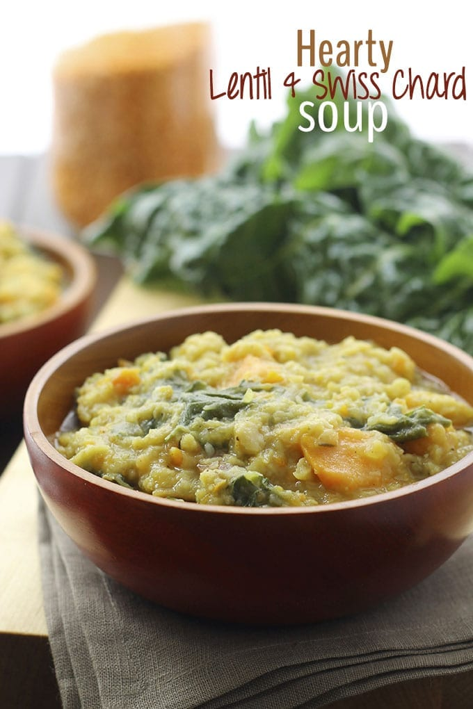 Hearty Lentil and Swiss Chard Soup - a veggie and protein-packed soup that's perfect for Fall! // thehealthymaven.com #healthy #recipe
