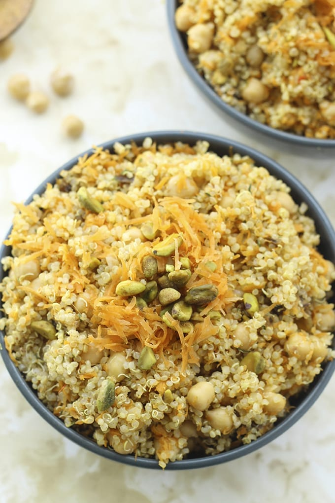 Moroccan Quinoa and Chickpea Salad // thehealthymaven.com