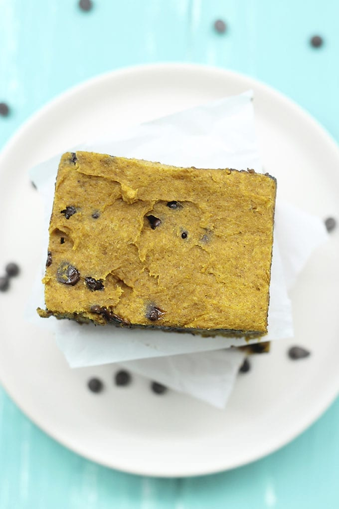 Pumpkin Spice Chocolate Chip Blondies 2