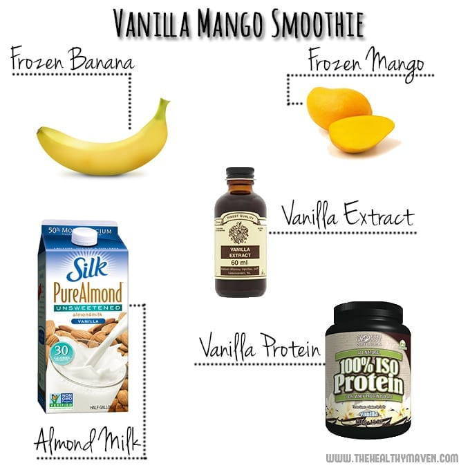 Vanilla Mango Smoothie // thehealthymaven.com