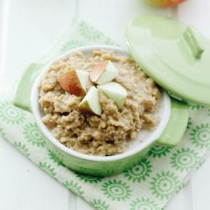 slow cooker apple pie oatmeal made with steel-cut oats - a perfect fall breakfast!