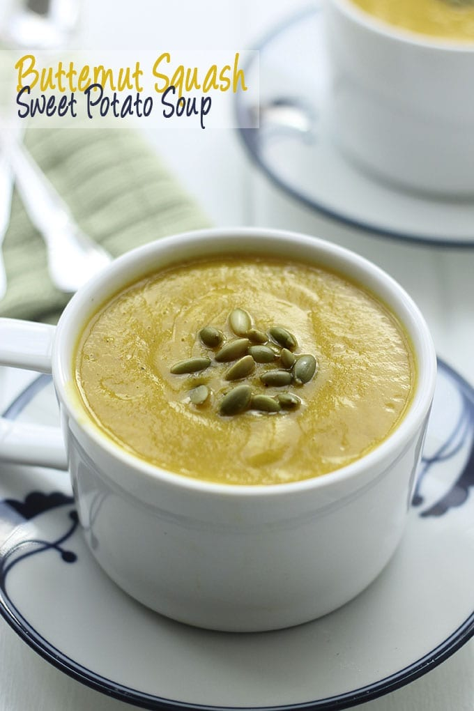 Butternut Squash and Sweet Potato Soup - The Healthy Maven