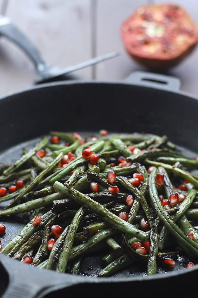 Charred Green Beans with Garlic and Pomegranate Seeds 3