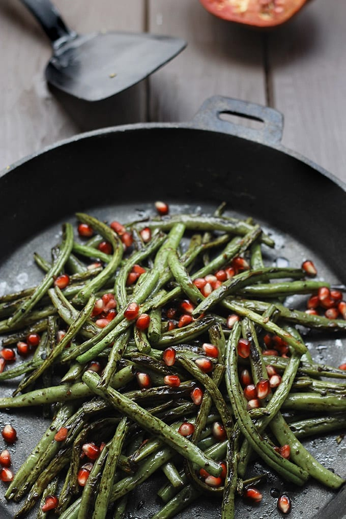 Charred Green Beans with Garlic and Pomegranate Seeds - a delicious ...