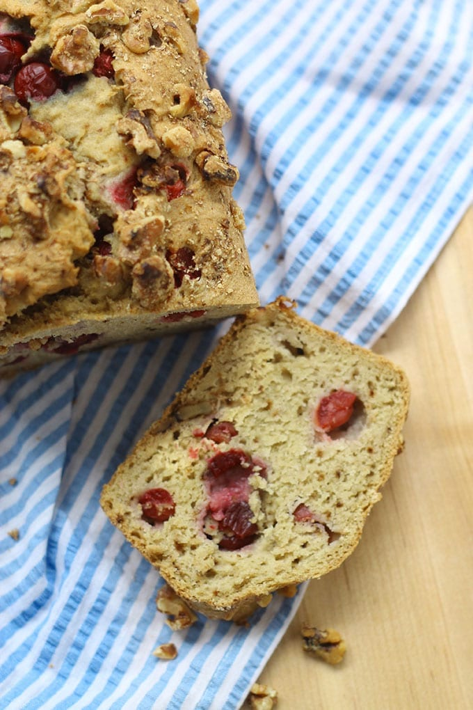 Gluten-Free baking at its finest with this delicious and seasonal Cranberry Walnut Loaf.