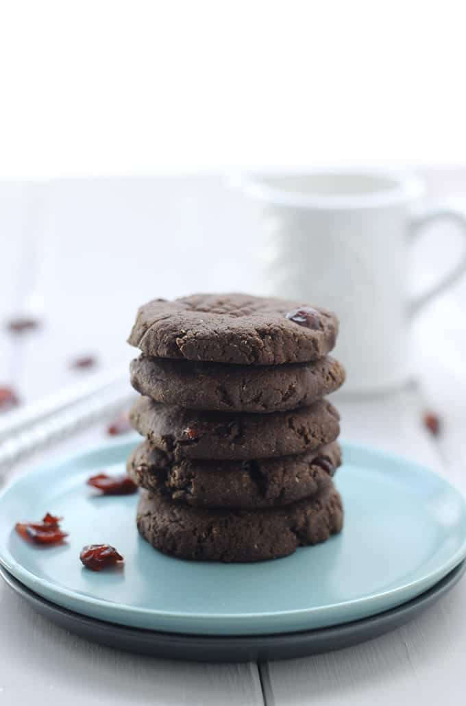 Grain Free Chocolate Cranberry Cookies The Healthy Maven