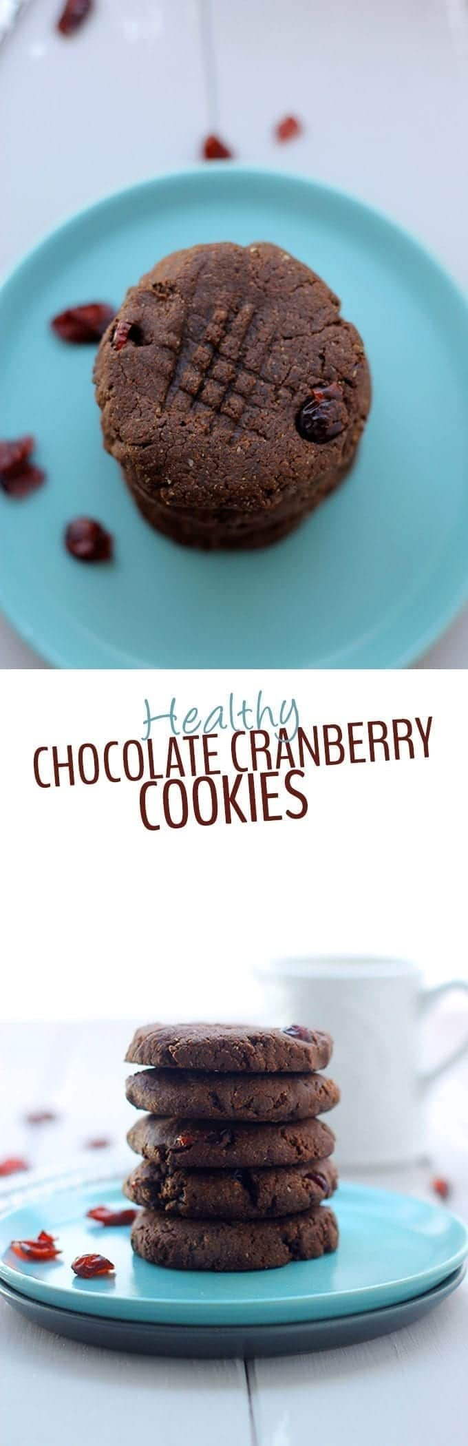 Get your Fall baking fix with these Grain-Free Chocolate Cranberry Cookies . Made with just 6 simple ingredients, these healthy chocolate cookies will hit the spot!