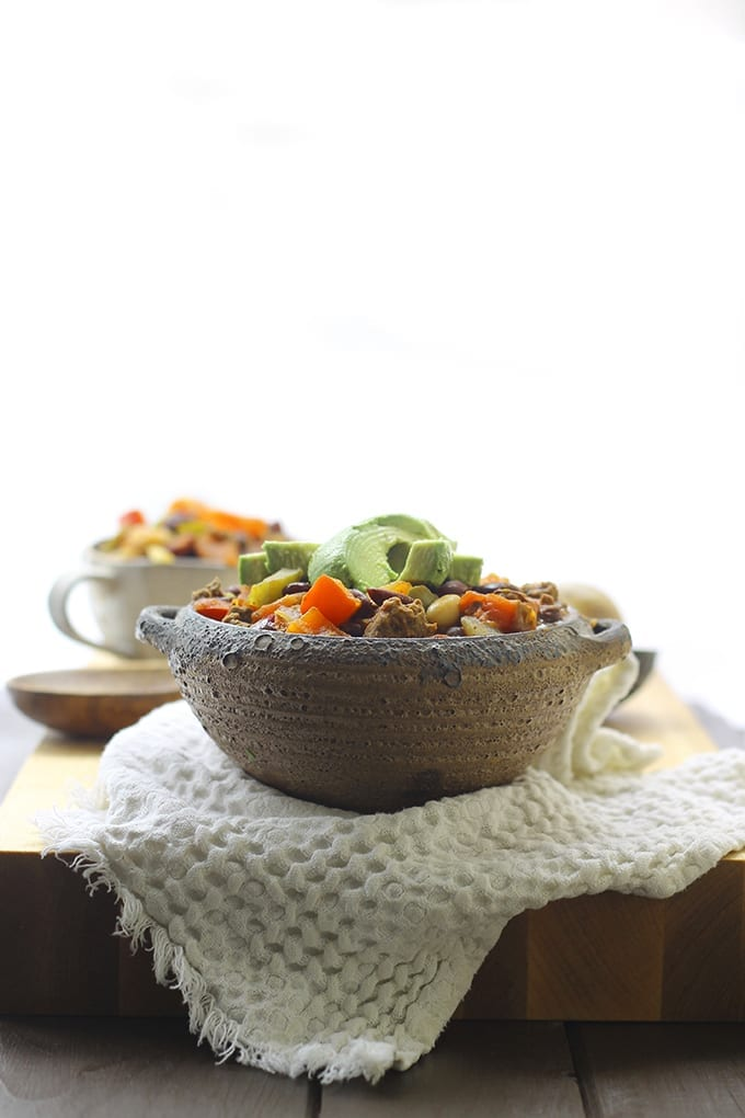 One-Pot Beef and 3-Bean Chili - The Healthy Maven
