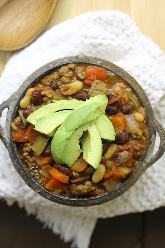 One-Pot Beef and Three Bean Chili - no need to dirty all of your ...