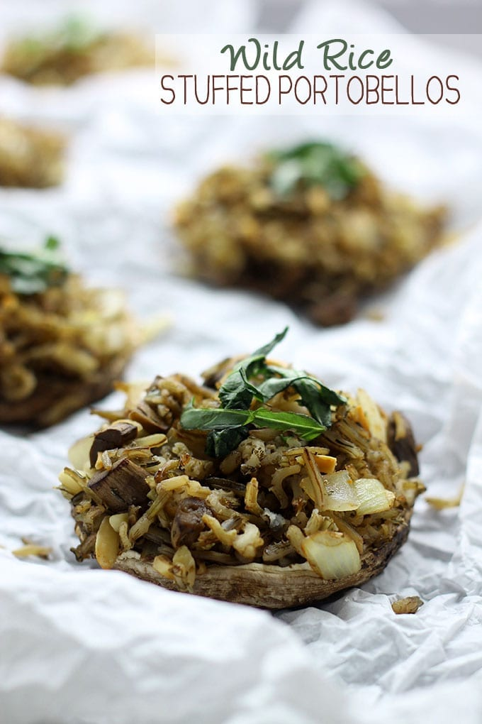 Wild Rice Stuffed Portobellos // #healthy #recipe