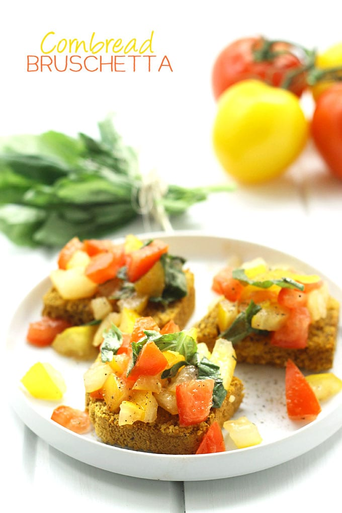 Cornbread Bruschetta | Healthy Appetizer Ideas For Thanksgiving
