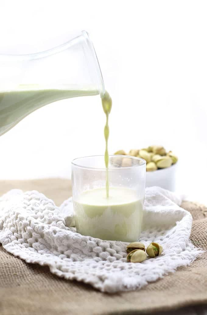 Change up your usual almond milk with this easy DIY Pistachio Milk recipe!