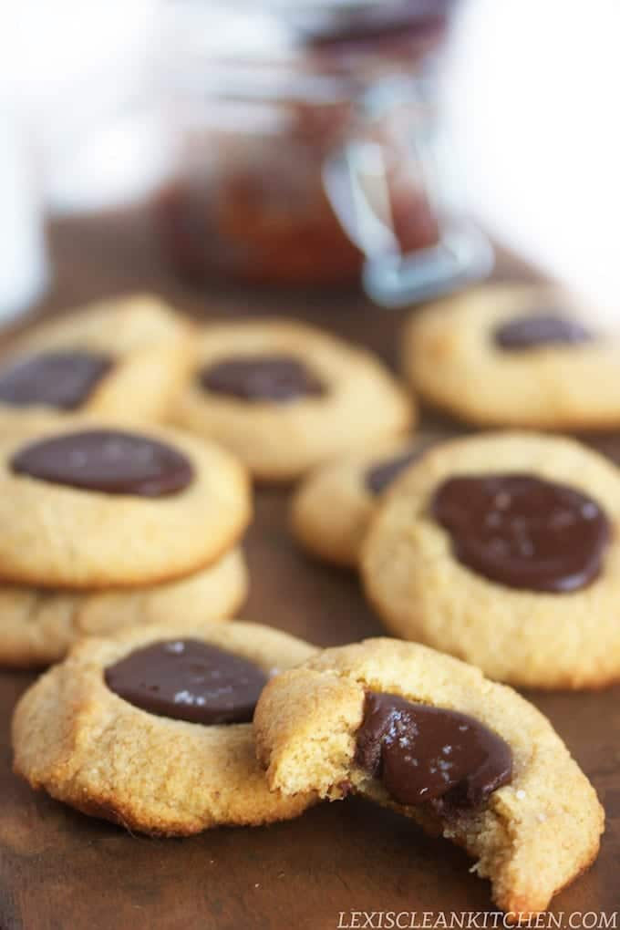 Sea Salt Nutella Thumbprints plus FIVE healthy holiday cookie recipes!