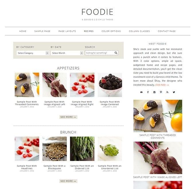 foodie theme
