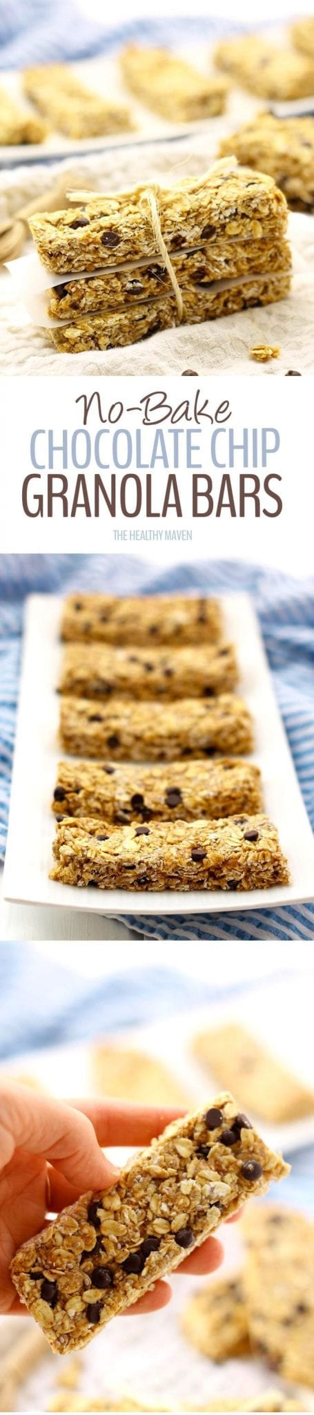 Healthy No-Bake Protein Granola Bars- with 9 grams of protein and ready in 20 minutes, these protein bars will become your new favorite snack recipe!