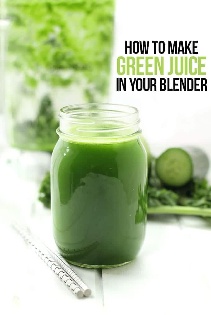 ... step-by -step tutorial on how to make green juice in your blender