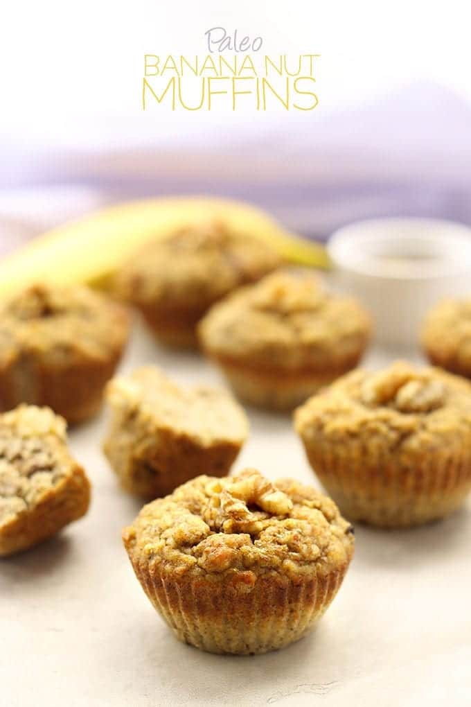Paleo Banana Nut Muffins - a grain-free muffin recipe with the sweetness of bananas and the heartiness of mixed nuts!