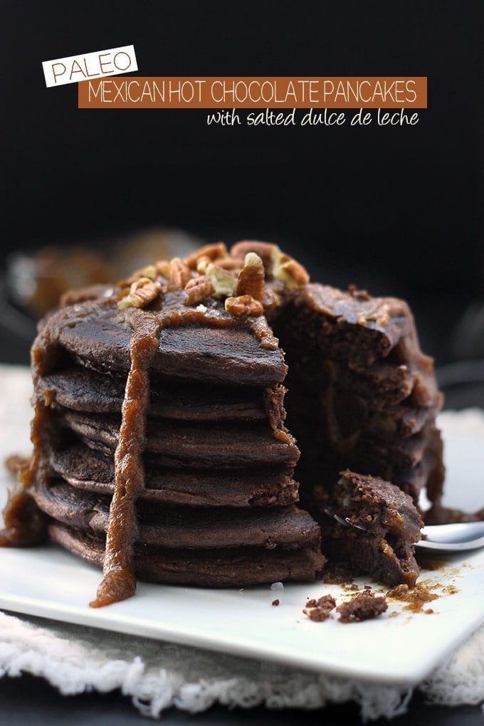 Paleo Mexican Hot Chocolate Pancakes