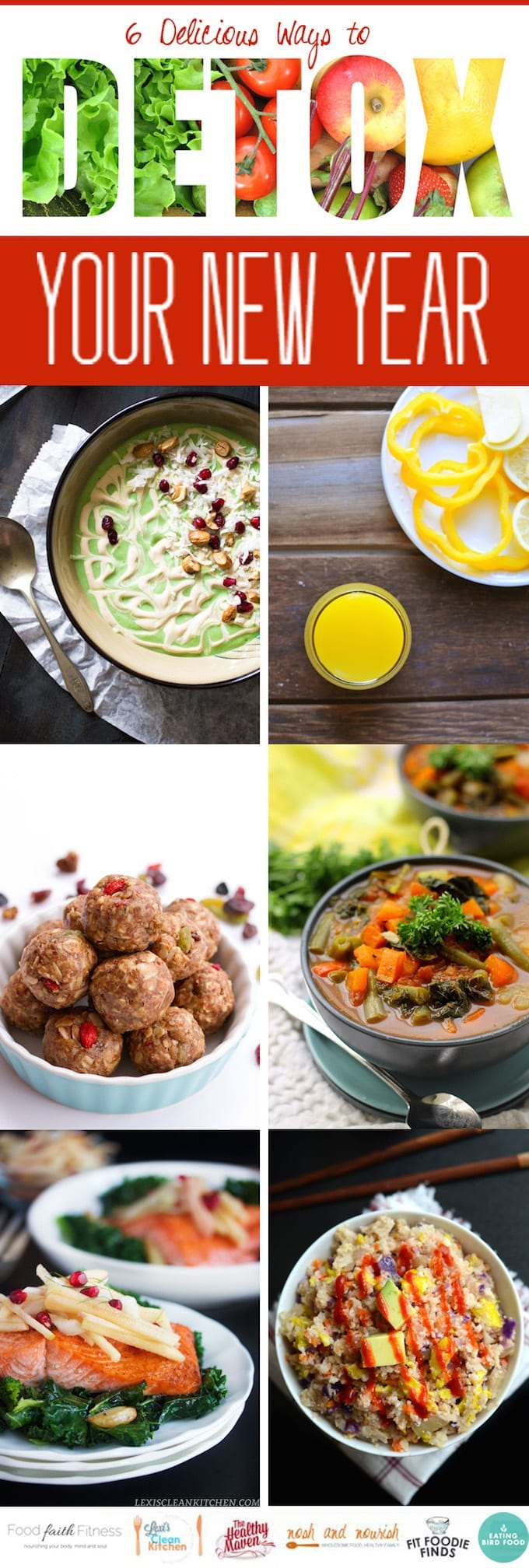 Detox your New Year with 6 healthy and nutritious recipes made from good, wholesome food!