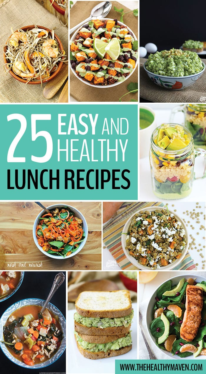 25 Easy and Healthy Lunch Recipes that can easily be packed and taken to work or school!
