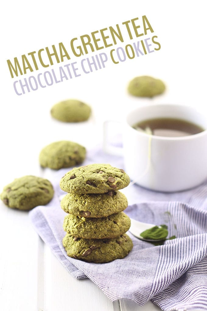 Whether you're celebrating St. Patrick's Day or any day, these Matcha Green Tea Chocolate Chip Cookies will answer your green cookie dreams! They're taking chocolate chip cookies up to a whole new level. Plus they're gluten-free!