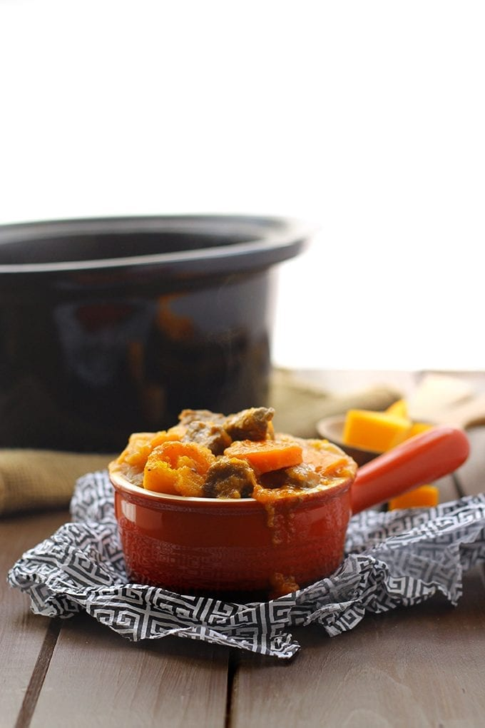 All you need is 5 minutes and a lot of patience to whip up this Slow Cooker Beef and Winter Vegetable Stew. It's packed-full of flavor, with hearty chunks of beef and 3 different nutritious winter vegetables! Perfect for a busy family.