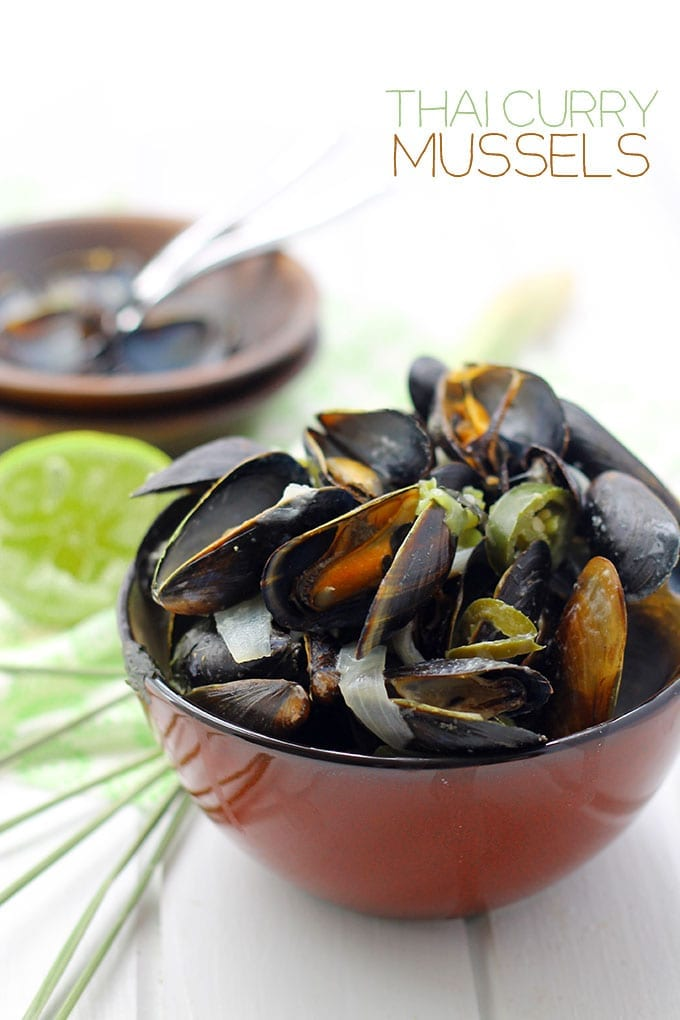You would not believe how easy and delicious these Thai Curry Mussels are! Dinner is ready in 15 minutes!