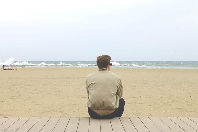 C-on-beach