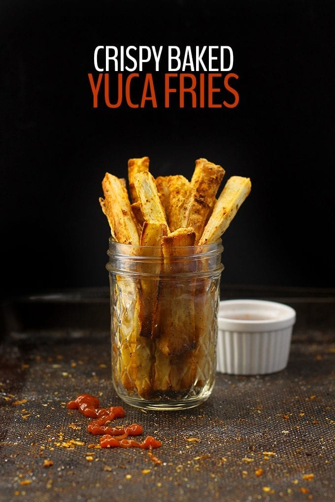 Change up your typical potato side with these Crispy Baked Yuca Fries! They're crispy on the outside, soft on the inside with a kick of spice. No frying and just a tablespoon of olive oil in the whole recipe!