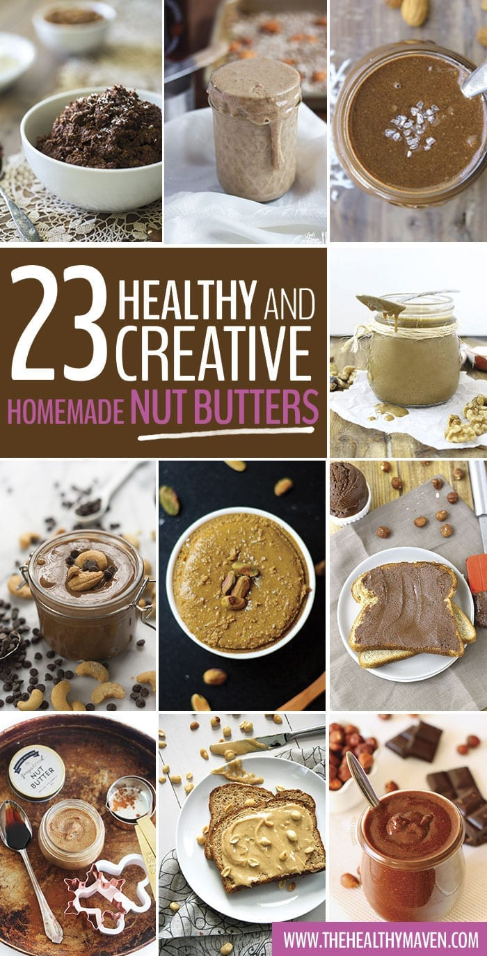 23 Healthy and Creative Homemade Nut (and Seed!) Butter Recipes - Ditch the store-bought jars and go for one of these nut butters instead. I can't promise you won't be going at them with a spoon though...