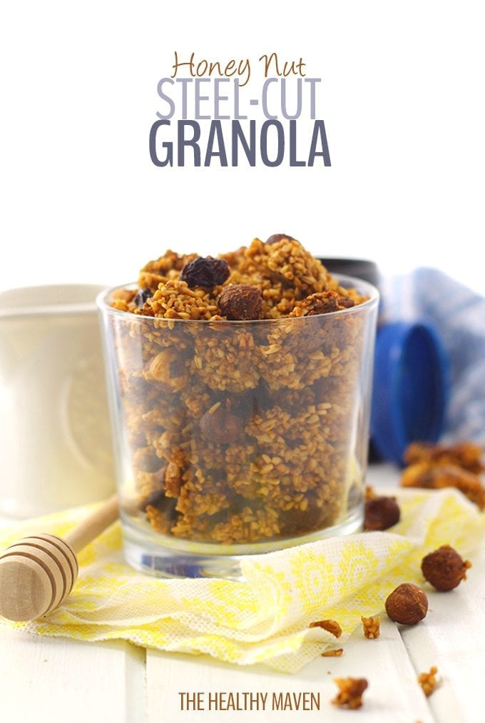 Yes! You can totally make granola with steel-cut oats! This Honey Nut Steel-Cut Granola will make you forget all about rolled oats and will quickly become a breakfast staple.
