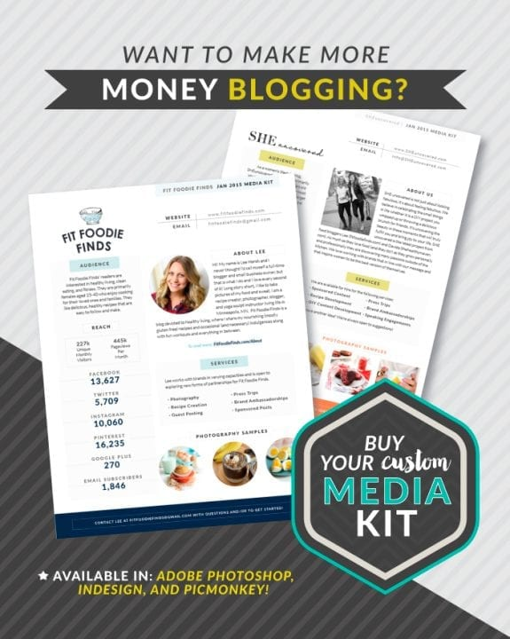 Customizable Media Kit Templates from TheBloggerProject.com
