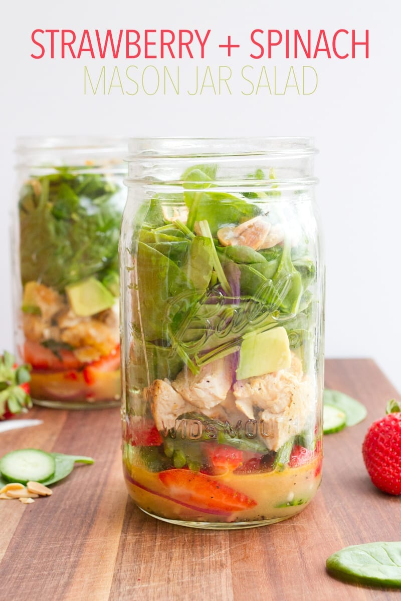 6 Healthy Mason Jar Salad Recipes - you don't know salad until you've tried it out of a mason jar! They're healthy, portable and don't get your veggies soggy. Perfect for lunch on the go.